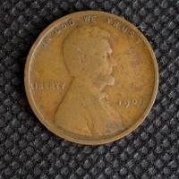 1909 LINCOLN WHEAT CENT 1c Avg Circ