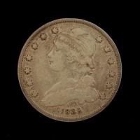 1835 w/Period CAPPED BUST QUARTER DOLLAR 25c VF25