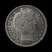 1895 BARBER HALF DOLLAR 50c MS63