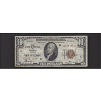 1929 $10 FEDERAL RESERVE BANK NOTE $10 F12