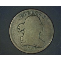 1808 DRAPED BUST HALF CENT 1/2c VG8