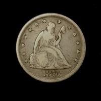 1875-CC LIBERTY SEATED TWENTY CENT 20c F12