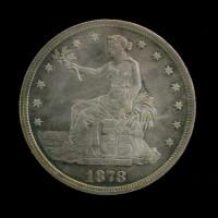 1878-S TRADE DOLLAR $1 AU58
