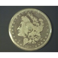 1893-S MORGAN DOLLAR $1 F12