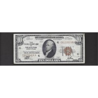 1929 $10 FEDERAL RESERVE BANK NOTE $10 EF40
