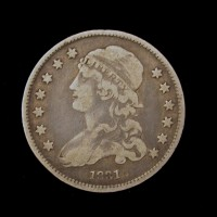 1831 CAPPED BUST QUARTER DOLLAR 25c VF/F