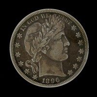 1896-O BARBER HALF DOLLAR 50c VF20