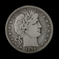 1896-S BARBER HALF DOLLAR 50c F18