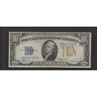 1934-A $10 WORLD WAR II NORTH AFRICA NOTE $10 VF20