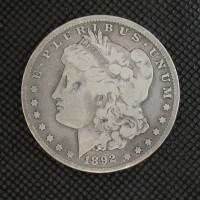 1892-CC MORGAN DOLLAR $1 VG8