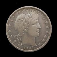 1904-O BARBER HALF DOLLAR 50c VF20