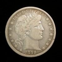 1898-S BARBER HALF DOLLAR 50c EF40
