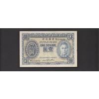 HONG KONG, 1940 $1 AU50 P316