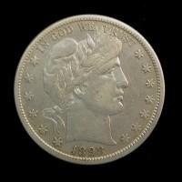 1898-S BARBER HALF DOLLAR 50c EF45