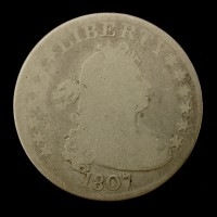 1807 DRAPED BUST QUARTER DOLLAR 25c AG-G