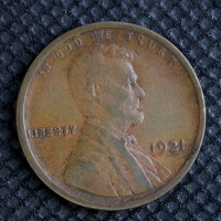 1921-S LINCOLN WHEAT CENT 1c VG8