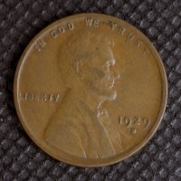 1929-D LINCOLN WHEAT CENT 1c EF48