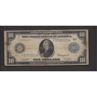 1914 Blue Seal $10 FEDERAL RESERVE NOTE $10 G4