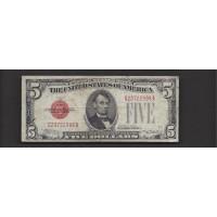 1928-C $5 UNITED STATES NOTE $5 VF20