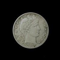 1911-D BARBER HALF DOLLAR 50c AU50