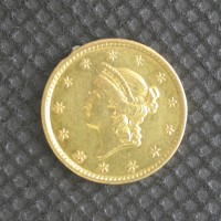 1851-C LIBERTY GOLD DOLLAR TY'1 $1 AU50+