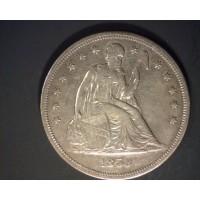 1859-S LIBERTY SEATED DOLLAR $1 EF48