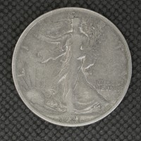 1921-S WALKING LIBERTY HALF DOLLAR 50c VF20