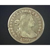1797 16 Stars DRAPED BUST HALF DIME 5c (Half Dime) VF20