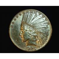 1926 INDIAN $10 GOLD $10 AU58