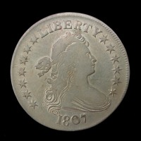 1807 DRAPED BUST HALF DOLLAR 50c F18