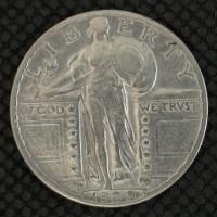 1929-D STANDING LIBERTY QUARTER 25c EF40