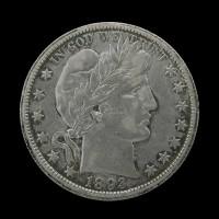 1893-O BARBER HALF DOLLAR 50c EF45