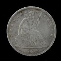 1858-S LIBERTY SEATED HALF DOLLAR 50c EF45