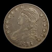 1826 CAPPED BUST HALF DOLLAR 50c EF40