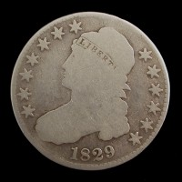 1829 CAPPED BUST HALF DOLLAR 50c G4