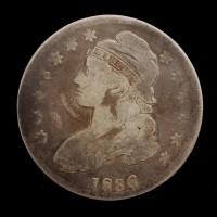 1836 CAPPED BUST HALF DOLLAR 50c VG8