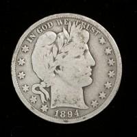1894-S BARBER HALF DOLLAR 50c AG-G