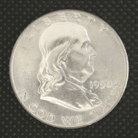 1950 FRANKLIN HALF DOLLAR 50c MS64 FBL