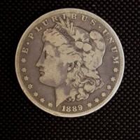 1889-CC MORGAN DOLLAR $1 VG10
