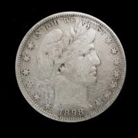 1898 BARBER HALF DOLLAR 50c VF35