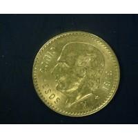 MEXICO, 1919 5 Pesos MS62 KM464