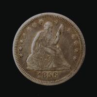 1856-O LIBERTY SEATED QUARTER DOLLAR 25c VF30