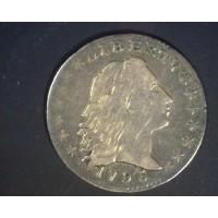 1795 15 Stars FLOWING HAIR HALF DIME 5c (Half Dime) VF30