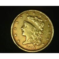 1834 SmPl4 CLASSIC HEAD $5 GOLD $5 EF40