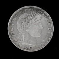 1899-O BARBER HALF DOLLAR 50c VF30