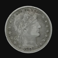 1893-O BARBER HALF DOLLAR 50c VF30