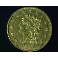 1834 CLASSIC HEAD $2 50 GOLD $2.50 AU53