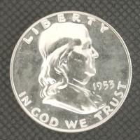 1953 FRANKLIN HALF DOLLAR 50c PF64 White