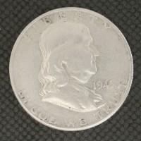 1949-S FRANKLIN HALF DOLLAR 50c AU50