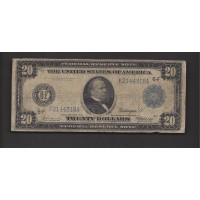 1914 Blue Seal $20 FEDERAL RESERVE NOTE $20 G4